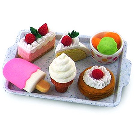 Iwako Cakes & Ice Cream Eraser Set Ice Cream Erasers
