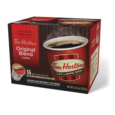 Tim Hortons Original Ground Coffee Single Serve Cups, Medium Roast, 36 (Best Single Serve Coffee)