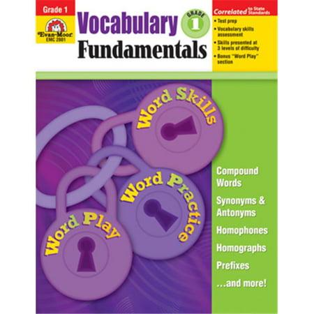Evan Moor Educational Publishers 2801 Vocabulary Fundamentals Grade 1