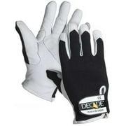 DECADE 52104 Anti-Vib Glove, XL, Blk/Wh, Rgt/Left Hand