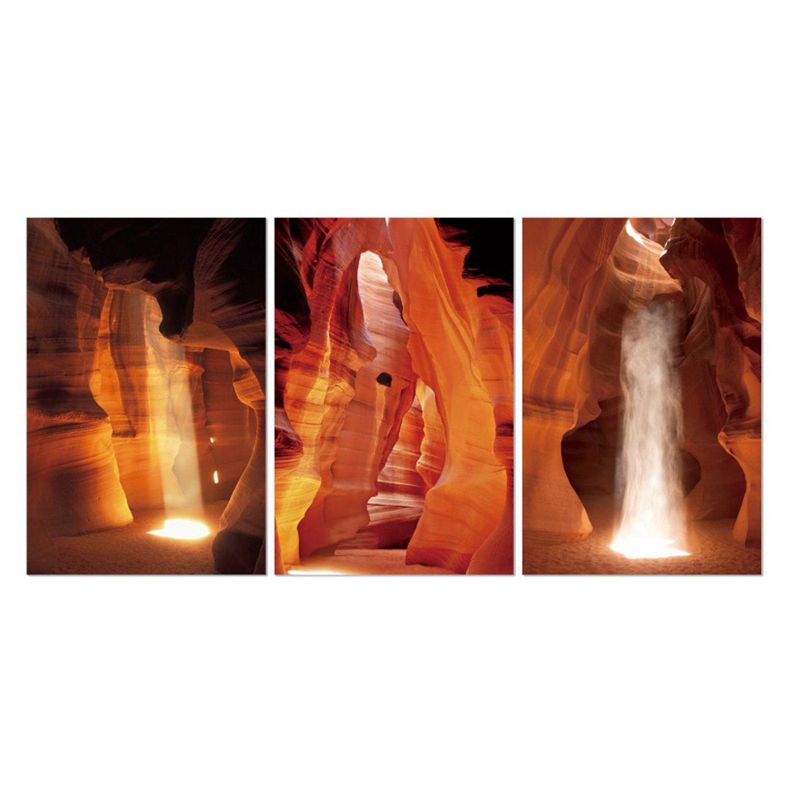 """Furinno SeniA Antelope Canyon 3-Panel MDF Framed Photography Triptych Print, 42"""" x 20"""""""