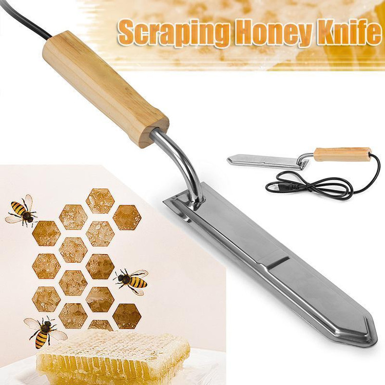 Electric Stainless Steel Scraping Honey Uncapping Hot Knife Beekeeping Equipment