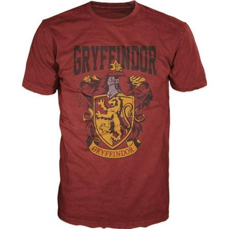 Harry Potter- Gryffindor Shield Apparel T-Shirt - Red](Gryffindor Shirt)