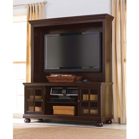 Better Homes and Gardens Espresso TV Stand with Hutch, for TVs up to 50″