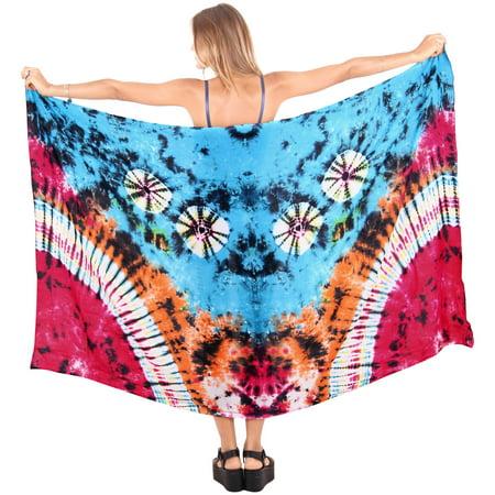 1f1721c9a4 LA LEELA - LA LEELA BEACH Rayon Casual WOMEN Bikini Scarf Wrap Long Sarong  Swimsuit Pareo - Walmart.com