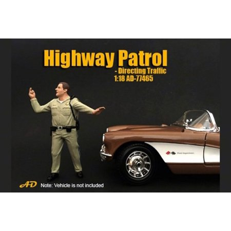 Highway Patrol Directing Traffic, American Diorama 77465 - 1/18 Scale Accessory for Diecast