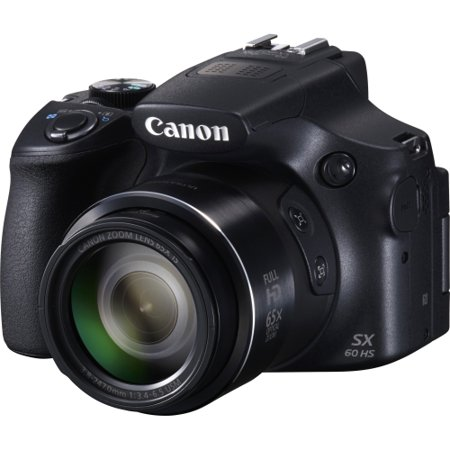 Canon Black PowerShot SX60 HS Digital Camera with 16.1 Megapixels and 65x Optical (Canon Sx60 Best Price)