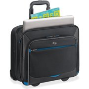 """Solo Tech Carrying Case (Roller) for 16"""" Notebook - Black, Blue"""