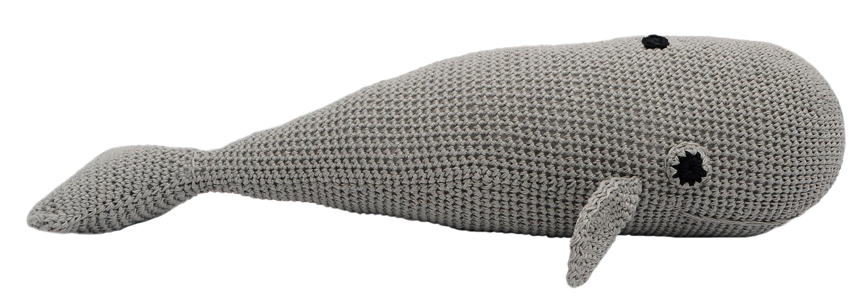 Grey Whale Handmade Amigurumi Stuffed Toy Knit Crochet Doll VAC by