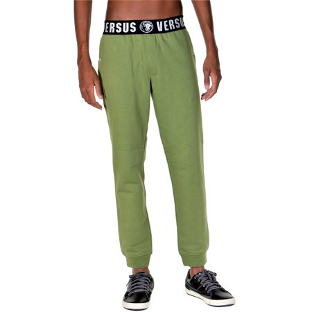 Versus Versace Iconic Mens Jogger Track Sweat Pants Olive Green