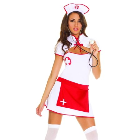 Elegant Moments Sexy Naughty Nurse Uniform Adult Halloween Costume