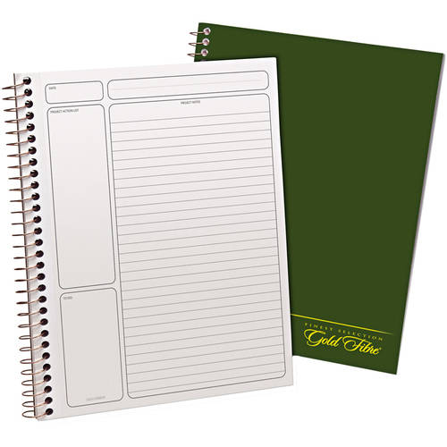 "Ampad Gold Fibre Wirebound Legal Pad, 9-1/2"" x 7-1/4"", White, Green Cover, 84 Sheets, 2 Pack"