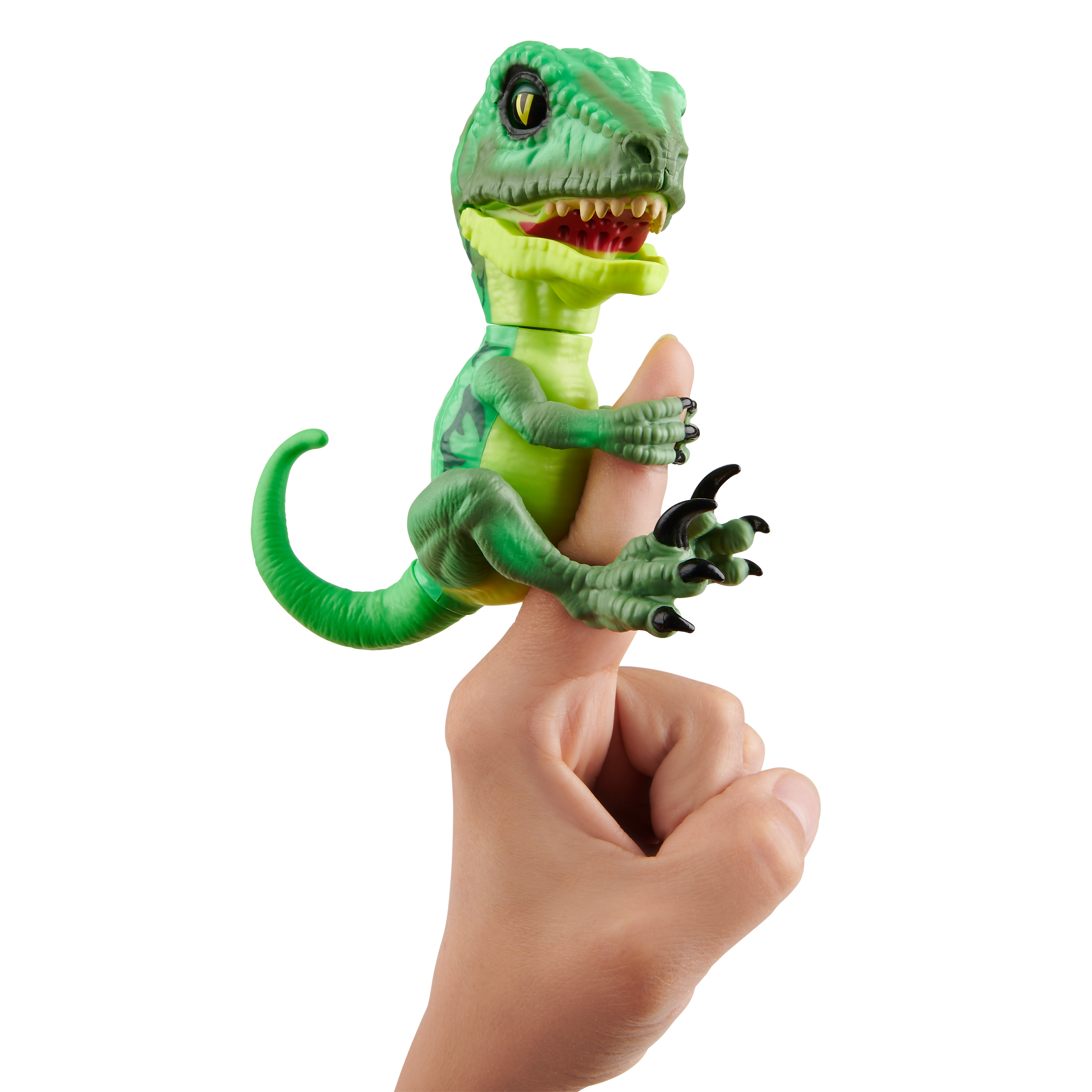 Untamed Raptor - Series 2- by Fingerlings - Hazard (Green) - Interactive Collectible Dinosaur - By WowWee