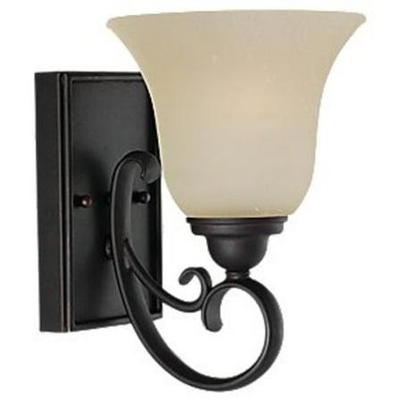 Sea Gull Lighting Bronze Ceiling Sconce - Sea Gull Lighting 41120 Del Prato 1-Light Reversible Wall Sconce