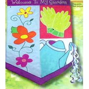 Welcome To My Garden Floral Spring House Flag