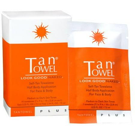 Tan Towel® 10-Pack Half Body Classic Self-Tan Towelettes