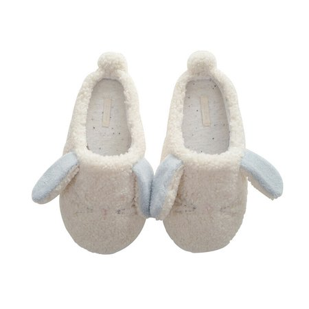 Women's Cozy Cute Sherpa Bunny Slipper, 5-7