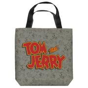 Tom And Jerry Logo Tote Bag White 9X9