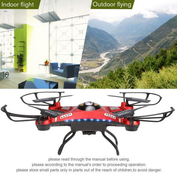 5.8G 4CH 6-Axis RC Quadcopter Drone With LED Night Light HD 720P