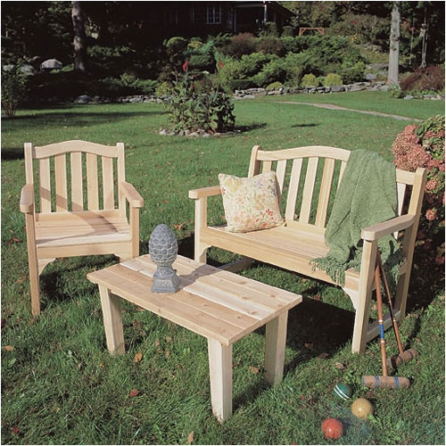 Bundle-56 Rustic Cedar English Lounge Seating Group (3 Pieces)