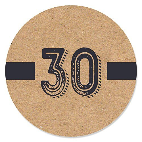30th Milestone Birthday - Party Circle Sticker Labels - 24 Count