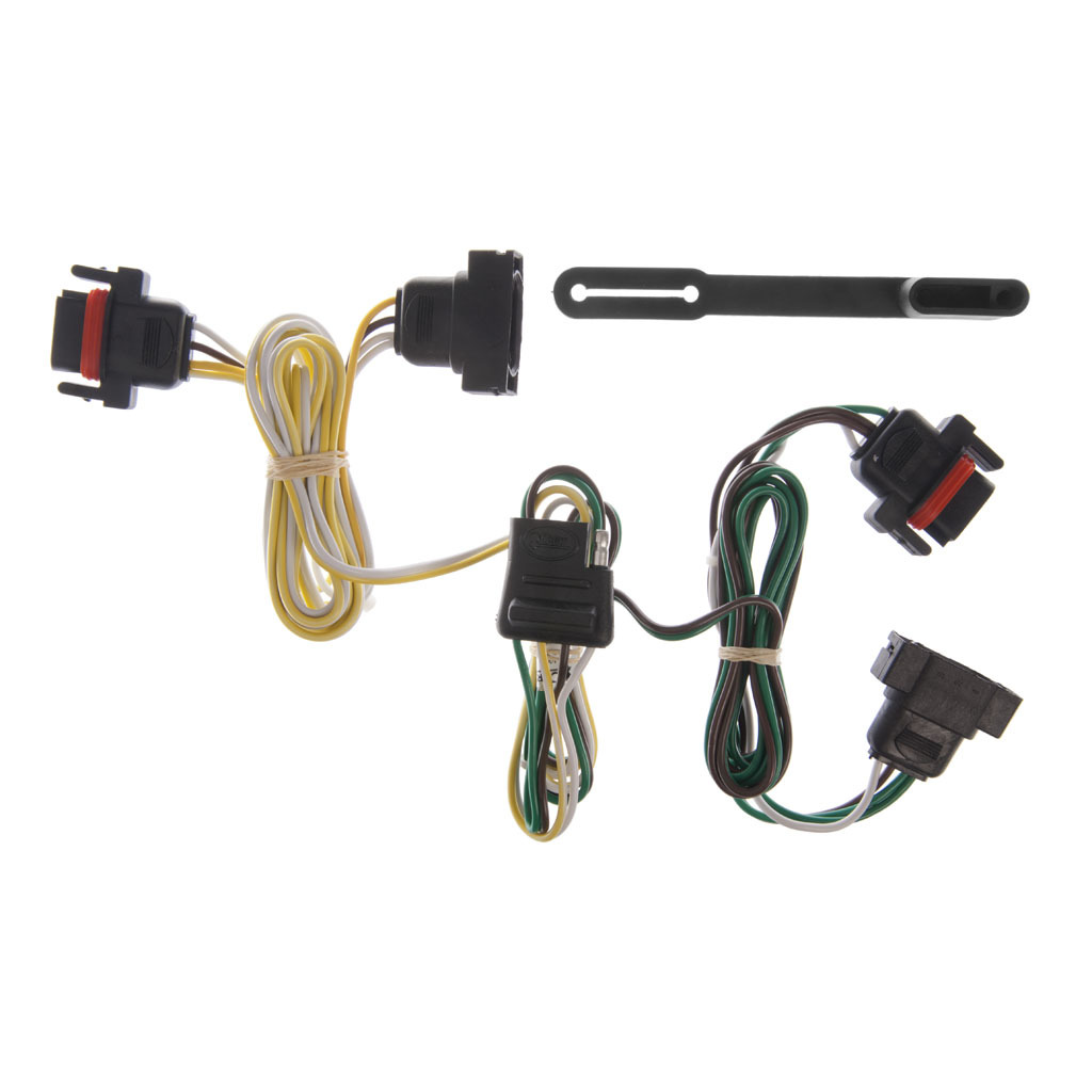 Curt Hitch 55323 Trailer Wiring Connector T With 4 Way Plugs Flat