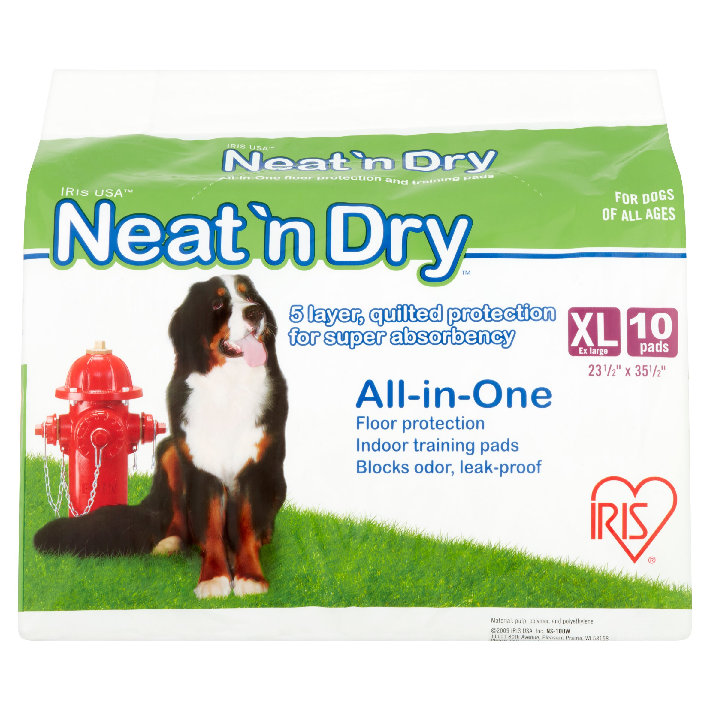 Iris  Neat 'n Dry Premium Pet Training Pads, Extra Large, 10 Count