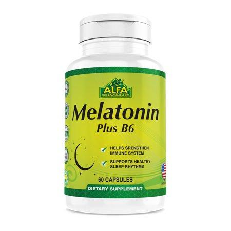 Melatonin Plus B-6 Supplement with 5mg - Sleep Cycle Regulator - Cardiovascular Health - Immune System - 60 (Plus Regulator)