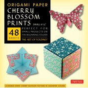 "Origami Paper- Cherry Blossom Prints- Small 6 3/4"" 48 sheets : Tuttle Origami Paper: High-Quality Origami Sheets Printed with 8 Different Patterns: Instructions for 5 Projects Included"