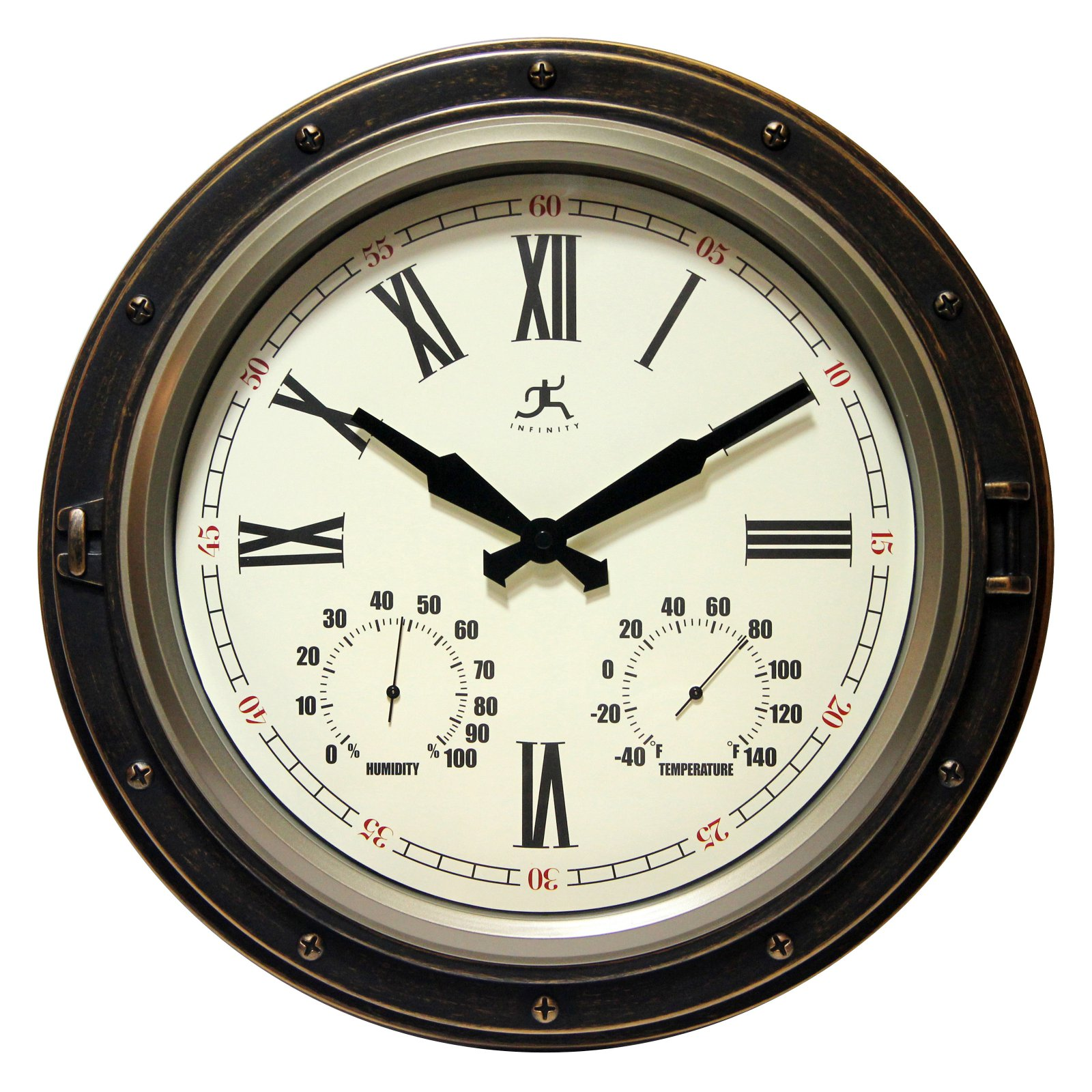 Infinity Instruments The Forecaster All Weather Outdoor 16W x 16H in. Wall Clock