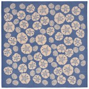 """Terrace Shell Toss Rug-Color:Marine Blue,Size:7'10""""Lx7'10""""Wx0.125""""H"""