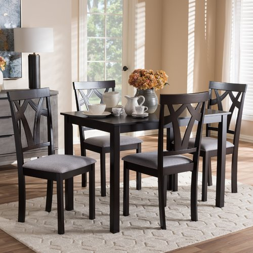 Red Barrel Studio Commodore-Singh Modern and Contemporary 5 Piece Breakfast Nook Dining Set