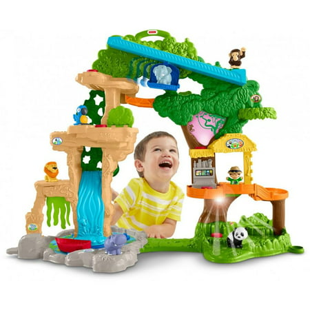 Little People Share & Care Safari Interactive Lights & Sounds Playset