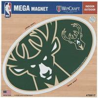 """Milwaukee Bucks 6"""" x 6"""" Mega Magnet"""
