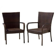 Outdoor Chair in Brown - Set of 2