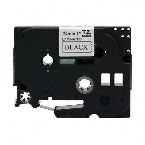 TZe Standard Adhesive Laminated Labeling Tape, 1w, Black on White - TZE251