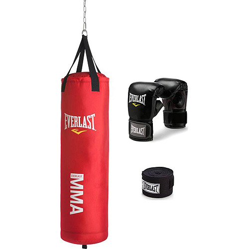 Everlast 70 lb MMA Heavy Bag Kit, Red