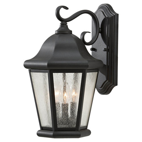 Oakhill Black Three-Light Outdoor Wall Sconce by
