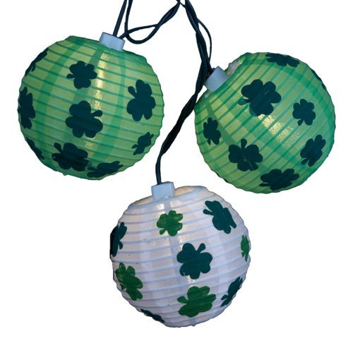Kurt Adler 3 in. Green Lantern with Shamrocks 10 ct. Light Set