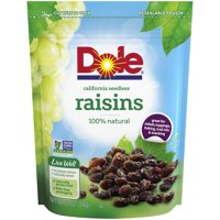 Dole California Raisins, Seedless, 12 oz