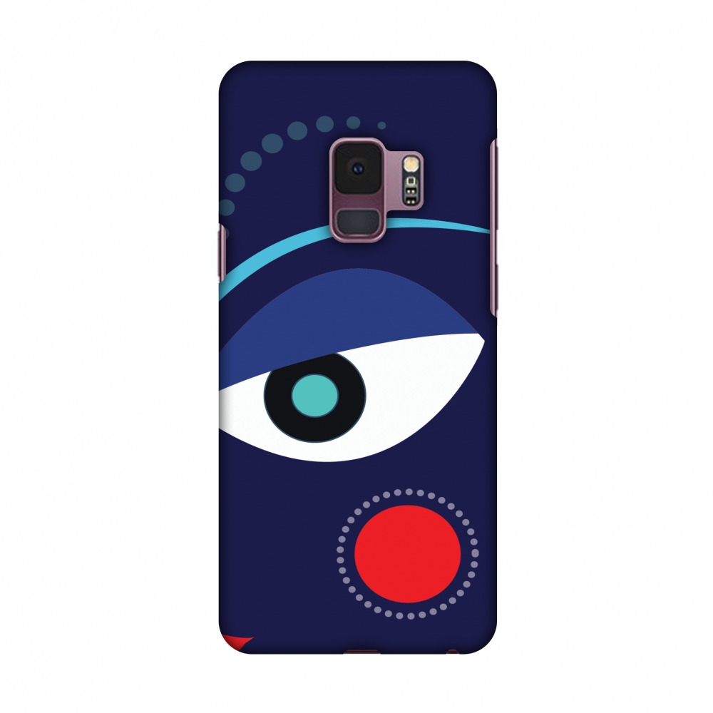 Samsung Galaxy S9 Case,Premium Handcrafted Designer Hard Shell Snap On Case Shockproof Printed Back Cover with Screen Cleaning Kit for Samsung Galaxy S9 - Divine Goddess Blue,Slim,Protective