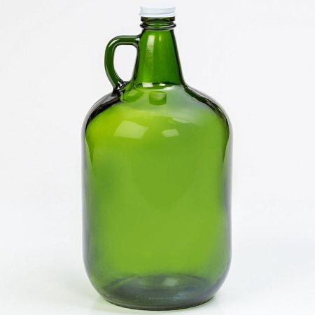 Glow In The Dark Drinking Glasses (Green Glass Gallon Jug with Twist)