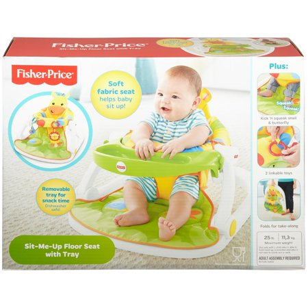bb96ccf7847 Fisher-Price Sit-Me-Up Floor Seat with Tray - Giraffe - Walmart.com