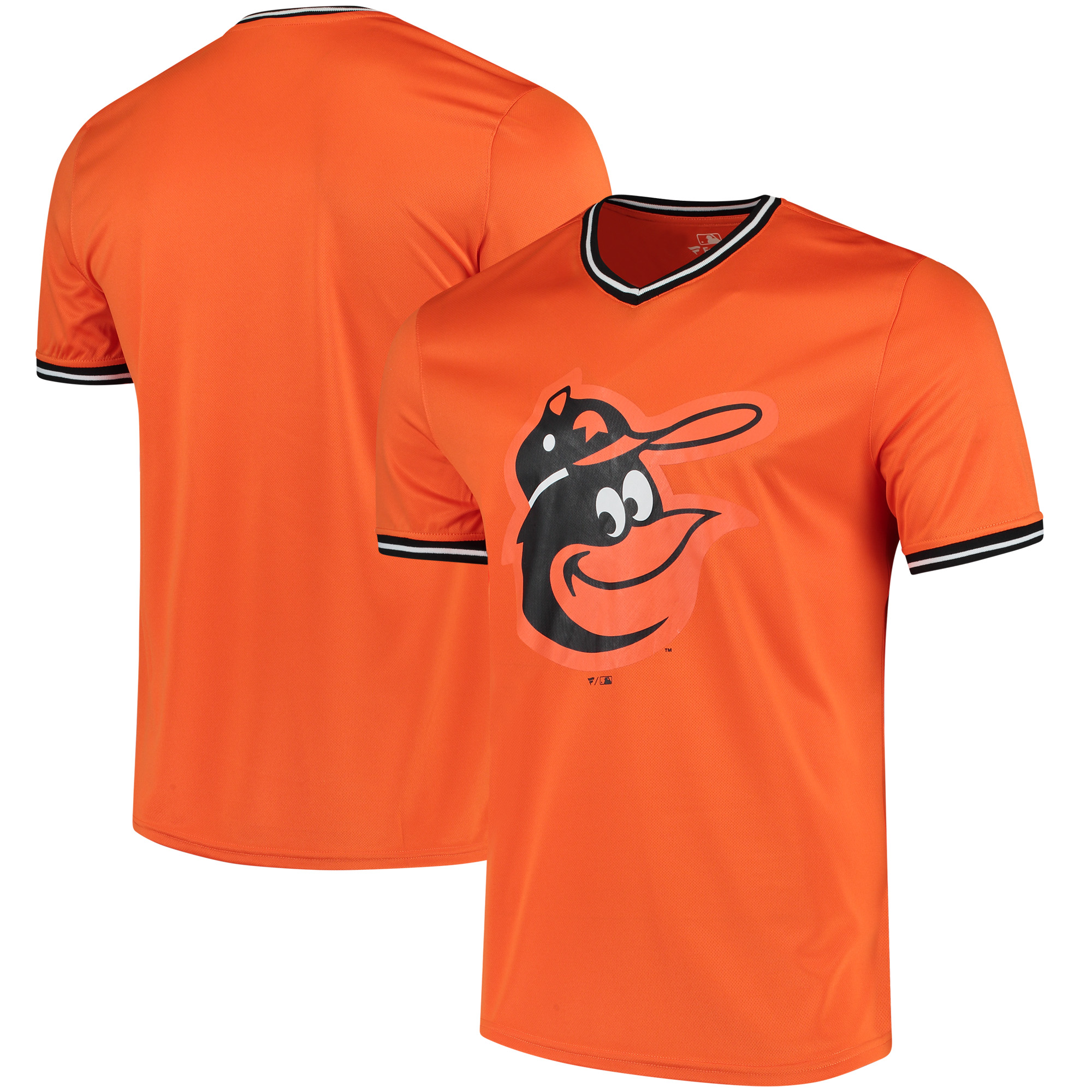 Baltimore Orioles Fanatics Branded Overtime Assist V-Neck T-Shirt - Orange