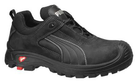 PUMA SAFETY SHOES 640425 14 Shoes,Composite Toe,Leather,Black,14,PR