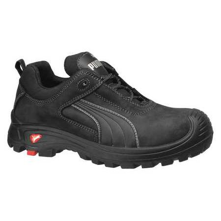 size 13 athletic style work shoes, men's, black, composite toe, eee, puma safety