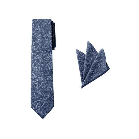 Jacob Alexander Matching Men's Floral Neck Tie and Hanky