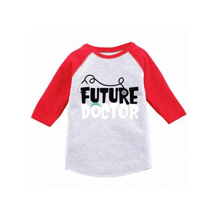Awkward Styles Future Doctor Toddler Raglan Themed Party Doctor Baseball Tshirt for Kids Funny Birthda Gifts Cute Med Jersey Shirts for Boys Cute Med Jersey Shirts for Girls Funny Medical Shirt ()