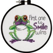 "Dimensions Learn-A-Craft ""First One To Smile"" Counted Cross Stitch Kit, 6"""