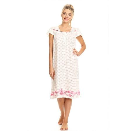 10074 Womens Nightgown Sleepwear Pajamas - Woman Sleeveless Sleep Dress  Nightshirt Red 4X - Walmart.com 961656605